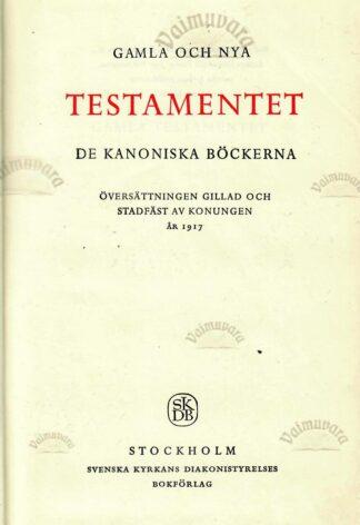 Bibeln. Gamla Och Nya. Testamentet. 1968 Stockholm