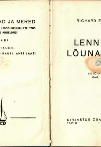 Lennuretk lõunanabale - Richard Evelyn Byrd