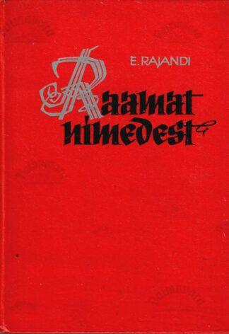 Raamat nimedest - Edgar Rajandi (punaste kaantega)