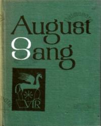 August Sang. Väike luuleraamat
